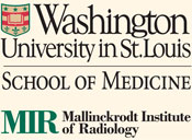 Washington University School of Medicine and Mallinckrodt Institute of Radiology logos